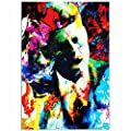 Pop Art 'John F Kennedy JFK' by Artist Mark Lewis, Colorful John F Kennedy JFK Painting Limited Edition Giclee Print on Glossy Acrylic