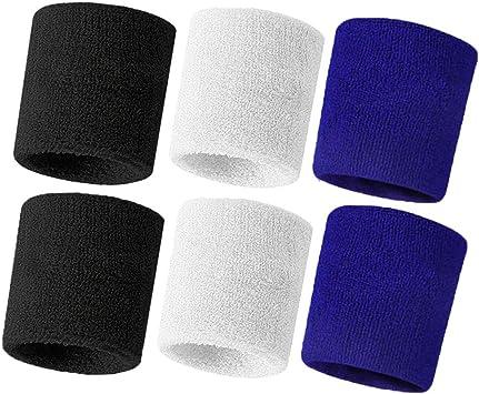 Amazon.com: Hanerdun - Muñequeras gruesas de algodón de rizo ...