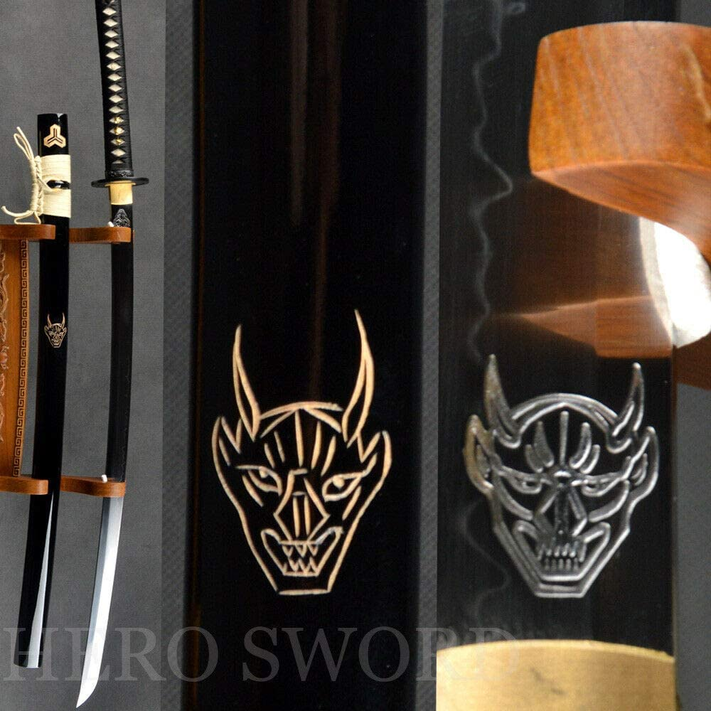 YL Sword Kill Bill Japanese Sword Clay Tempered T1095 Steel No BO hi Blade Smaurai Katana
