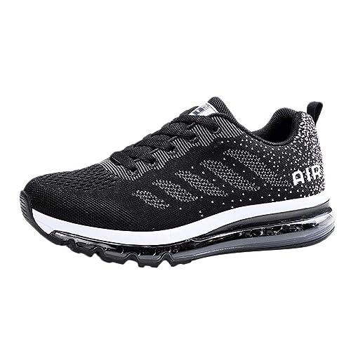 LANSKIRT Zapatillas Running de Mujer Calzado de Verano para Pareja Caminando Zapatos Casuales de Cojín de Aire Correr Zapatillas Deportivas: Amazon.es: Zapatos y complementos
