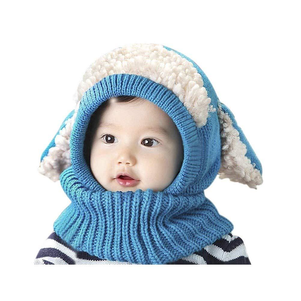 JIAHFR Bonnet Hiver Cagoule Enfant Bébé Bonnet Cache Oreilles Chapeau Laine  Tricoté Cache Cou Ensemble Bonnet Echarpe Cagoule Hiver Garçon Fille Bonnet  ... 989511abc55