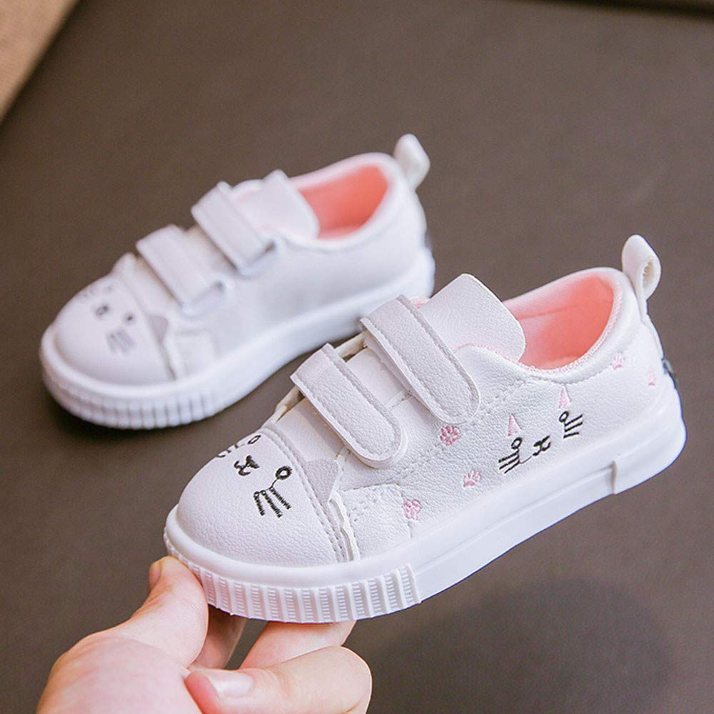 Kasien Baby Shoes, Kids Boys Girls Cat Sneakers Sports Running Shoes Baby Infant Casual Shoes (White, 6-12 Months) by Kasien (Image #6)