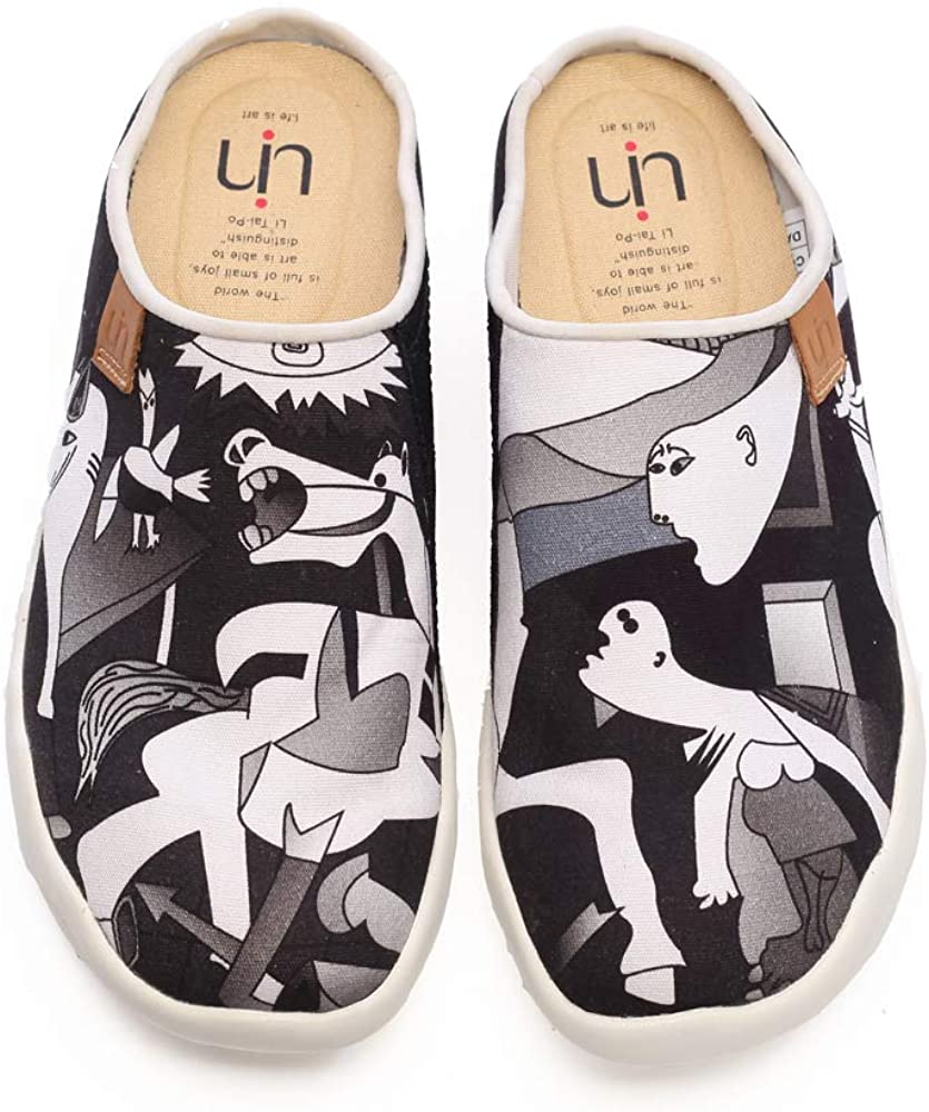 UIN Women Mens Wandering Painted Canvas Slip-On Shoes Casual Travel Shoes Loafers Walking Shoes
