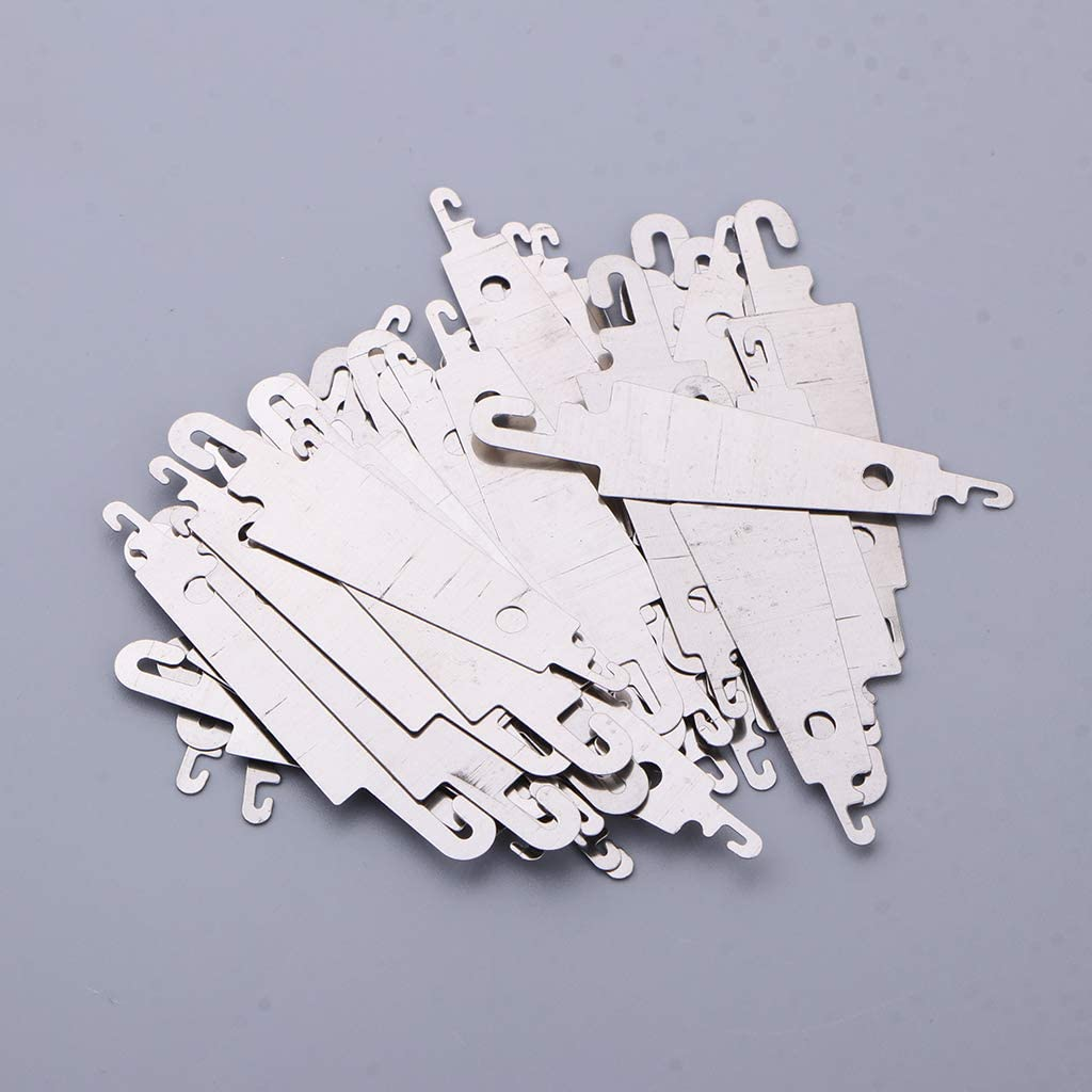 sharprepublic Set of 50 Stainless Steel Cross-Stitch Threading Hook Needle Threader Stitch DIY Tool Craft Accessories Wholesale