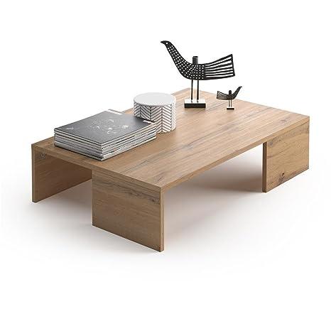 Tavolini Da Salotto Rustici.Mobili Fiver Tavolino Da Salotto Rachele Rovere Rustico 90 X 60 X 21 Cm Nobilitato Made In Italy Disponibile In Vari Colori