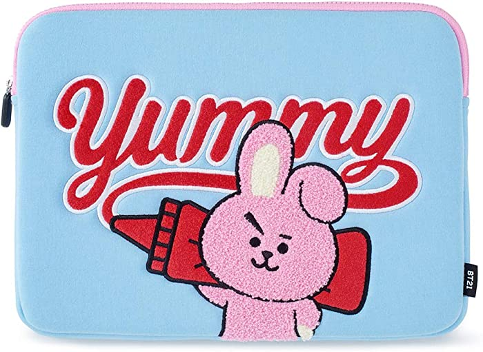 BT21 Official Merchandise by Line Friends - Cooky Character Bite Ppogeul Laptop Sleeve 13""