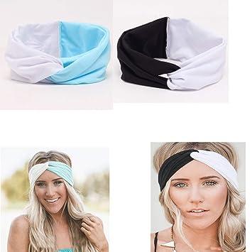 10 Ladies Elastic Wide Headband Sports Yoga Gym Running Hair Band Women/'s