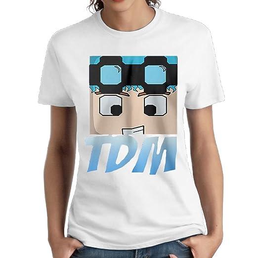 8b555874b Katie P. Hunt Women's Dan TDM Logo Casual Style Short Tee Girl Particular  Shirt White