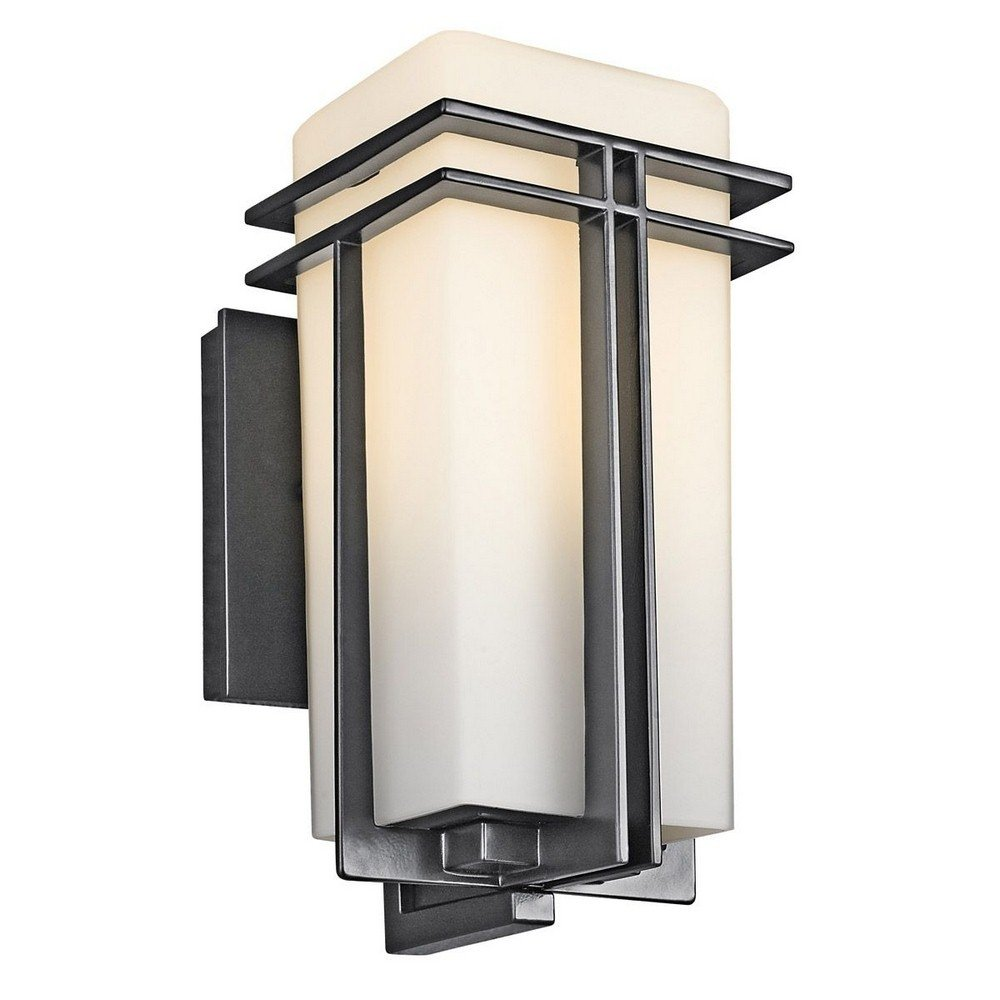 Kichler 49200BK One Light Outdoor Wall Mount