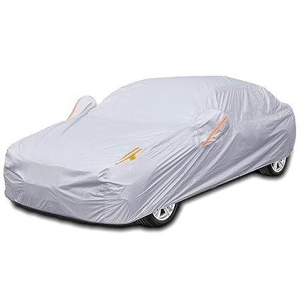 Waterproof Car Cover Protector Anti-UV Rain Snow Dust Silver Coating Sedan XL