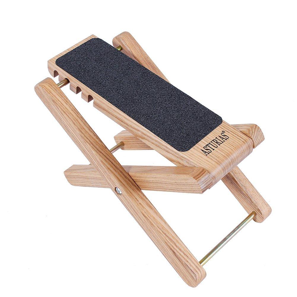 WONZOM Asturias ajustable de madera antideslizante Reposapiés para ...