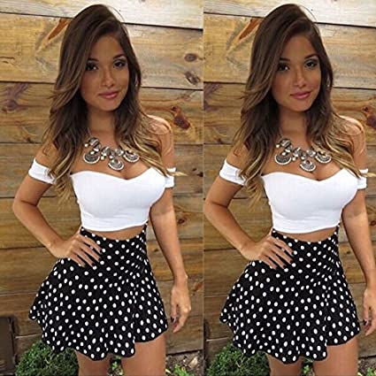 c2cdf70e57ab6 Amazon.com: Sufang Sexy Women Lace Bodycon Dress Skirt and Crop V ...