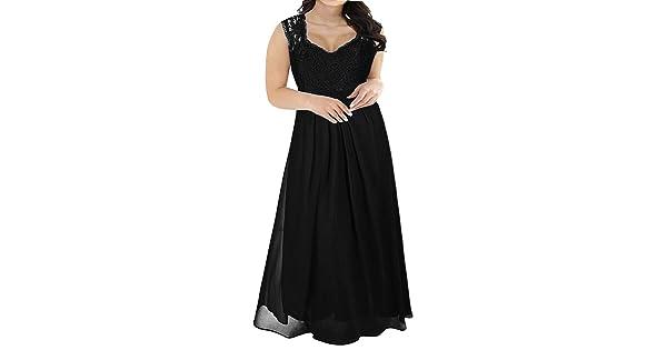 38d1c8b9758 Nemidor Women s Deep- V Neck Sleeveless Vintage Plus Size Bridesmaid Formal  Maxi Dress (24W