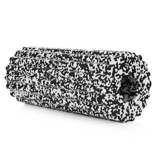 SiGaMEN Fitness Foam 32x14cm Yoga Foam roller Massage roller Pilates foam roller for Physiotherapy White