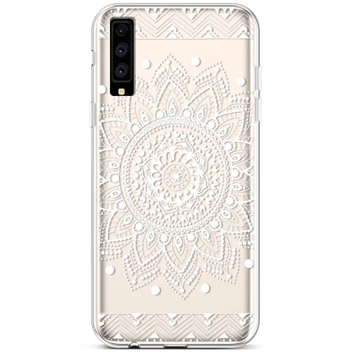 Felfy Compatible avec Galaxy A7 2018 Coque Silicone Transparente Housse /Étui de Protection Motif Cr/éatif Ultra Fine Doux Souple TPU Silicone Case Cover Cristal Clair Bumper Shell,/Él/éphant