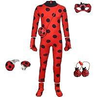 SZ-TONDA Kids Girl Ladybug Costume - Red Ladybird Little Beetle Suit Jumpsuit Halloween Party Cosplay for Women Adult…
