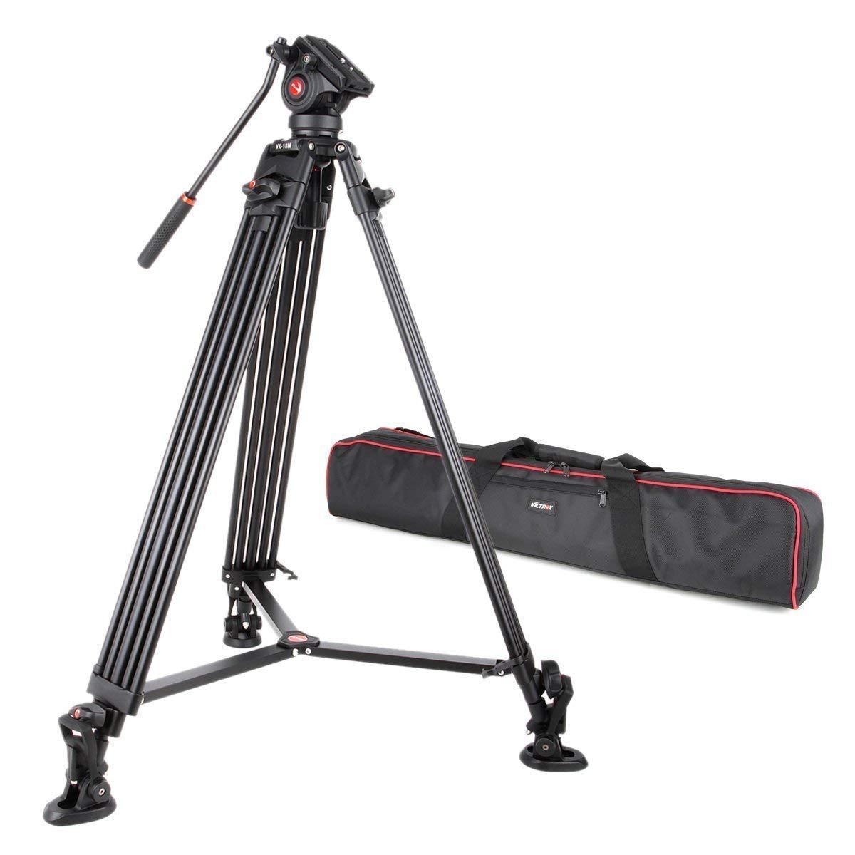 2019最新のスタイル VILTROX アルミ三脚 VX-18M VILTROX ビデオカメラ三脚 クイックリリースプレート付き 3段階伸縮 360回転 最大荷重6kg 最大荷重6kg 収納袋付き VX-18M B07QPLS3WP, 広島バラ園:521e2ce9 --- arianechie.dominiotemporario.com