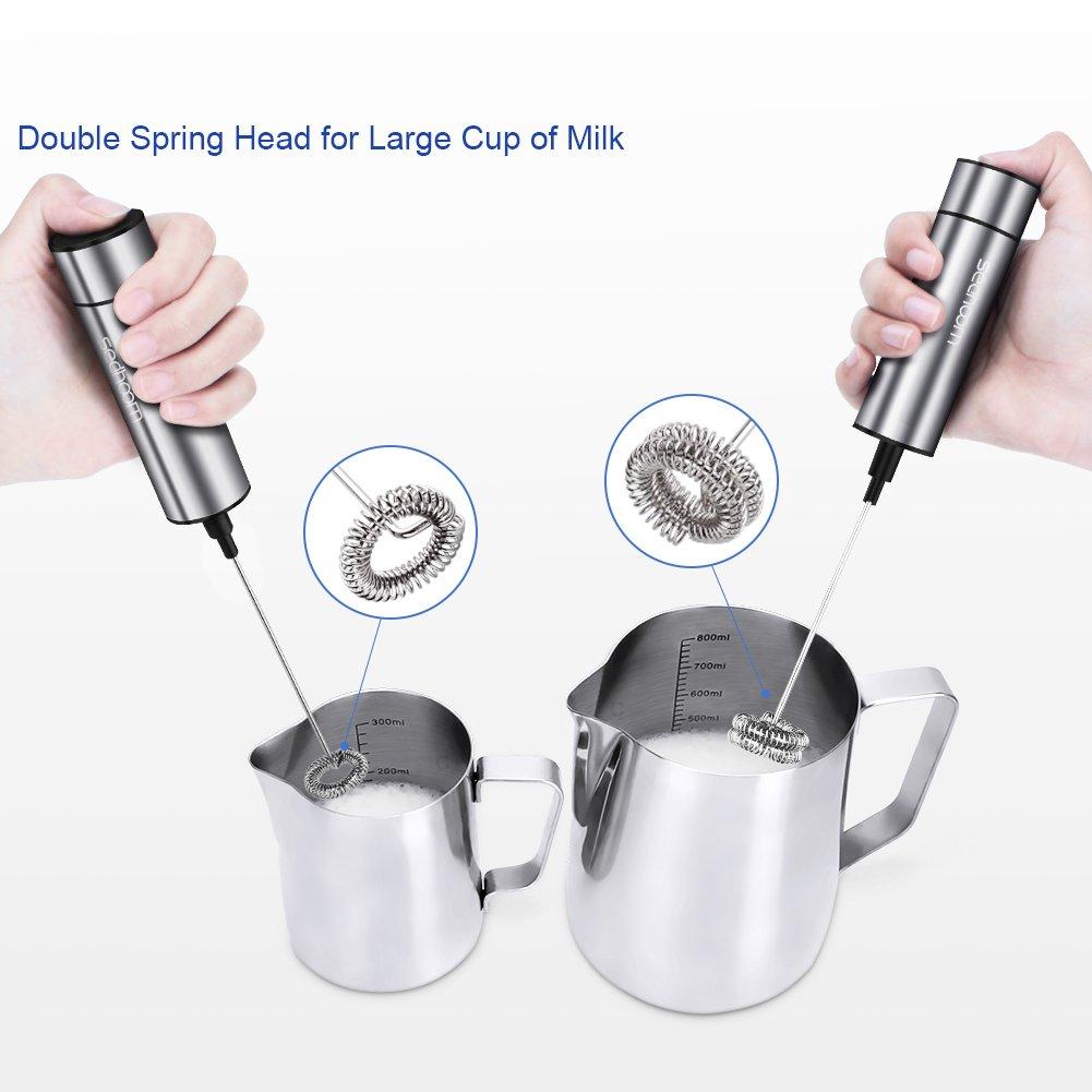 /Émulsionneur de lait /électrique avec fouet /à double ressort portable puissant avec t/ête suppl/émentaire /à ressort unique
