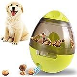Leeko 犬用 おやつボール 難易度調節可能 噛むおもちゃ ペットおもちゃ だるまボール 餌入れ 早食い防止 知育玩具 IQステップボール 倒れないデザイン グリーン
