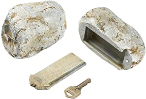 GEEKIA Hide-A-Key Fake Rock Security Safe Storage, Looks and Feels Like a Real RockSpare Key,Safely Hiking Your Spare Key Outdoor,Yard or Garden Diversion safes,Outdoor Statue.
