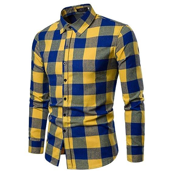 Cebbay Camisa Manga Larga Hombre Grueso a Cuadros Slim fit Polo Camiseta  Trajes para la Nieve Liquidación  Amazon.es  Ropa y accesorios d6e08298daf8f