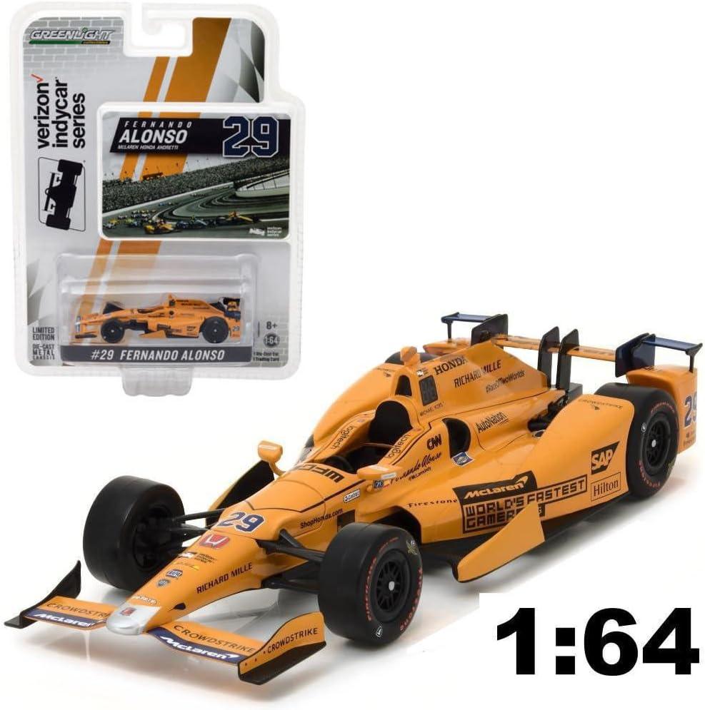McLaren Honda Andretti 1//64 DIECAST 10794 GREENLIGHT 2017 #29 Fernando Alonso