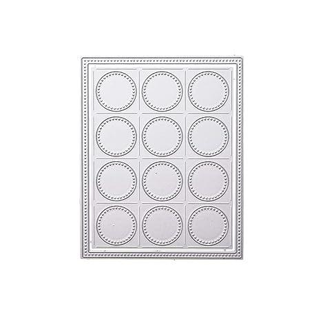 Healifty Plantilla para Repujado con aro Troqueles de Metal para moldes para álbum Scrapbooking Paper Card