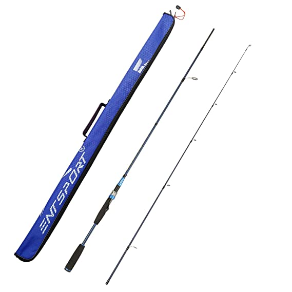 Entsport E Series - Sirius Spinning Rod 2 Piece 7' Graphite Portable Fishing Rod