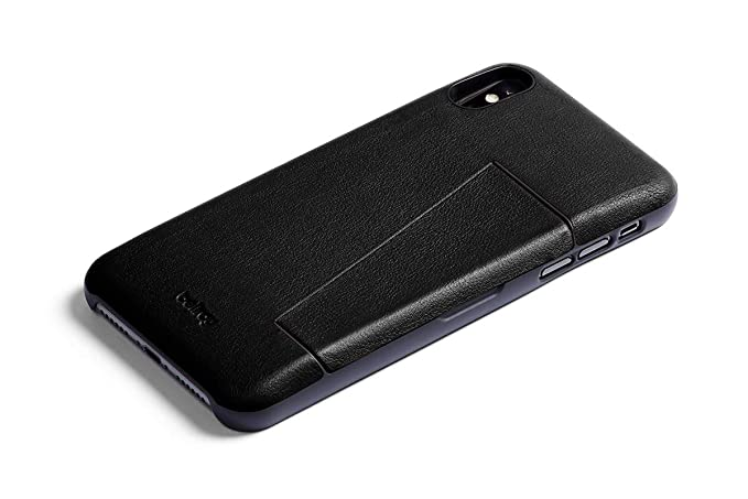 new concept f50cb a140f Bellroy Leather iPhone XR Phone Case - 3 Card - Black