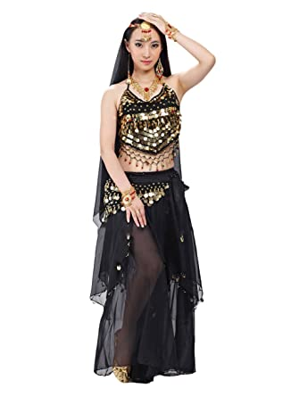 72b42acaa411a Amazon.com: AvaCostume Womens India Belly Dance Costume 5Pcs Sets ...