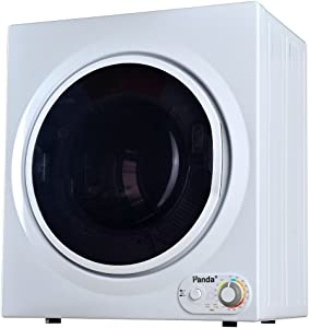 Panda PAN760SF-01 3.5 cu. ft. Compact Electric Dryer in White and Black, Bottom Control, 7 Serial 3.75 Cu.ft