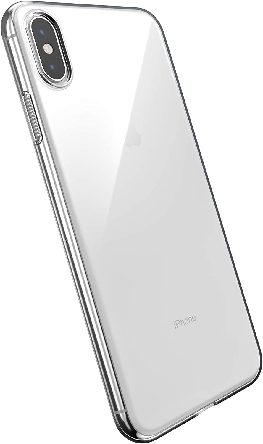Speck Slim Clear iPhone Xs Max Case, Single Layer, Clear