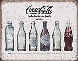 Coca Cola Bottle Evolution Tin Sign 16 x 13in