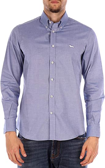 Harmont&Blaine Camisa Azul Claro: Amazon.es: Ropa y accesorios