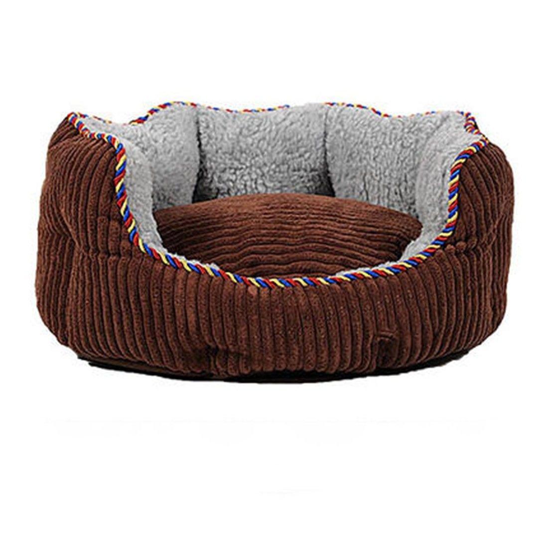 S 60CM STAZSX Teddy Kennel Sofa Dog Bed Washable golden Retriever Small Medium Large Dog cat Litter pet Supplies Four Seasons Universal, S  60CM