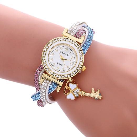 weant Pulsera Brillantes Moda Reloj Correa Elegante Reloj de Mujer Original Reloj Chica Reloj de Pulsera Digital Cuarzo A: Amazon.es: Relojes