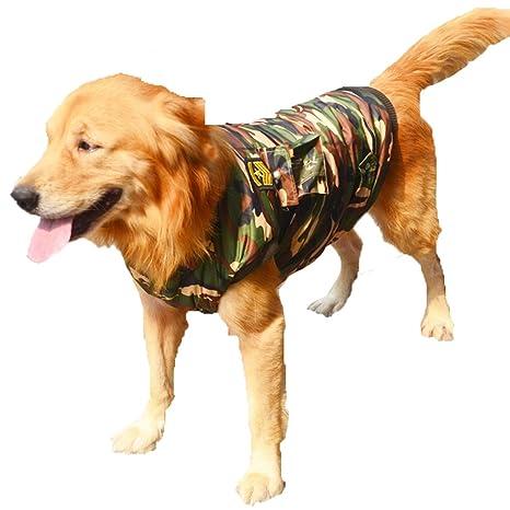 DUOZE Perro De Gran Tamaño Chaleco Abrigo Ropa Para Perros Ropa Para Mascotas Gruesa Camuflaje,