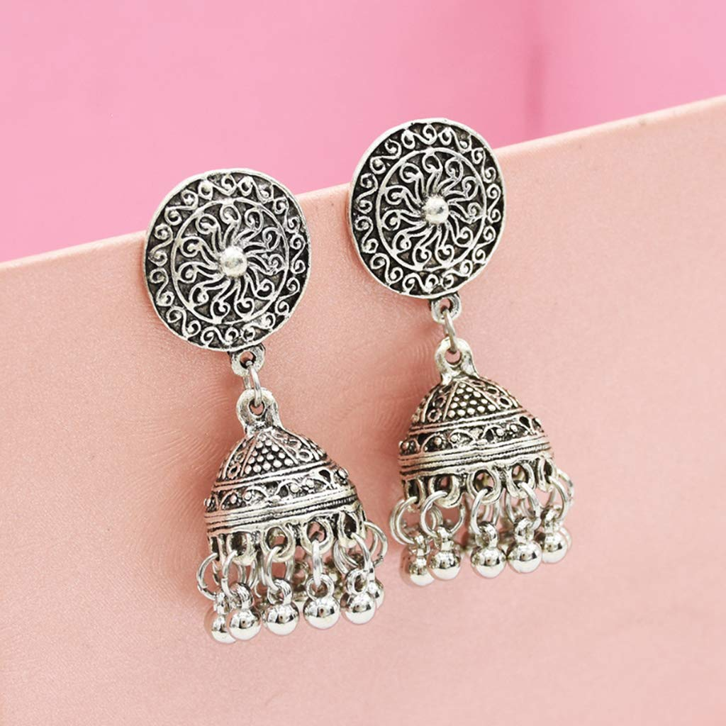 Rhfemd New Arrival Tassel Earrings Vintage Antique Personality Fashion Bell Pendant Exquisite Carved Dangle Ethnic Retro Gifts Jewelry Party Prom Wedding
