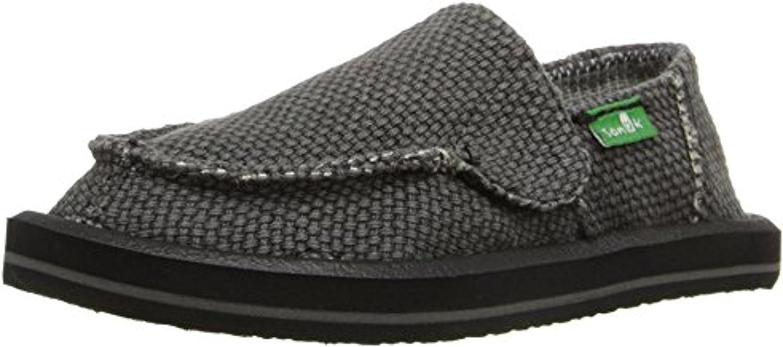 Sanuk Boys Vagabond Loafers Black /& Shoe Cleaner Bundle