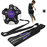Kabibin Volleyball/Soccer Kick/Throw Trainer, Football Solo Practice Training Aid for Juggling, Foot Control, Kicking Practic