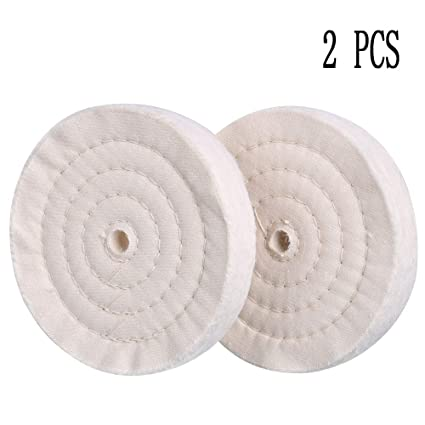 Scottchen Extra Thick Buffing Polishing Wheel 6 Inch 70 Ply For Bench Grinder Tool With 1 2 Arbor Hole 2 Pack