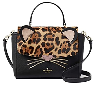 50c276ed2477 Image Unavailable. Image not available for. Color: Kate Spade Leopard Run  Wild Kerrie Crossbody Handbag Black