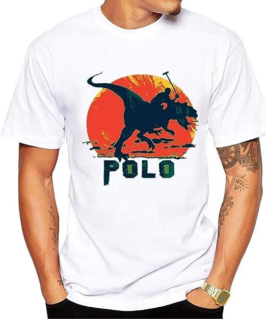 Yizhu Camiseta De Hombre Prehistórico Dinosaurio Polo Player ...