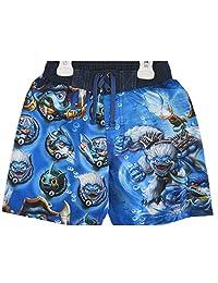 Skylanders Swap Force Little Boys Blue Sky Character Print Swim Wear Shorts 4T