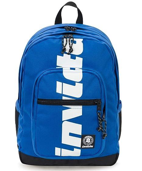 a basso prezzo 1b598 194db ZAINO INVICTA - JELEK - Logo Blu - tasca porta pc padded - 38 LT - Scuola e  tempo libero
