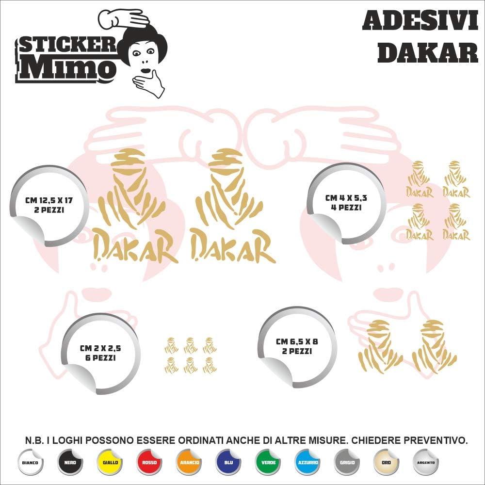 Set Adesivi Dakar Tagliati Singolarmente Stickers Compatibili Kit Decalcomanie Personalizza Colore Verde