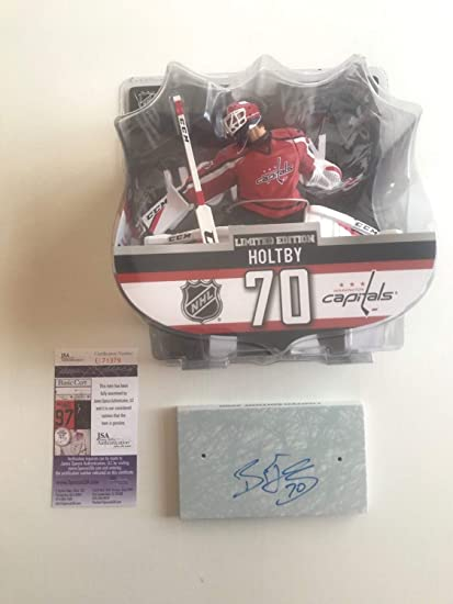 923a07548 Image Unavailable. Image not available for. Color  Washington Capitals  Braden Holtby Autographed Signed Import Dragon Figure   Base - Memorabilia  JSA