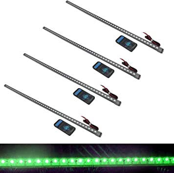 56cm 48 LED green 5050 Car Knight Rider Strip Light Waterproof Flash w// Remote