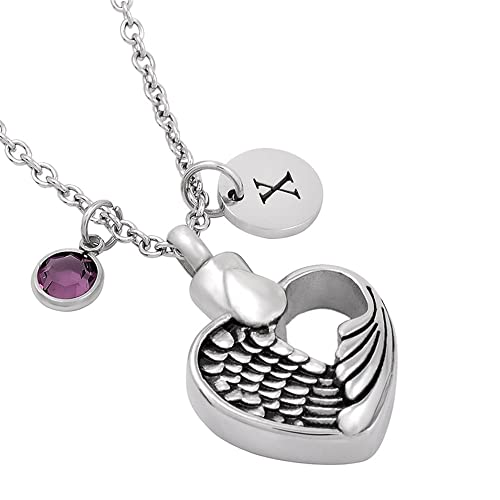 Amazon personalized feather heart stainless steel memory personalized feather heart stainless steel memory pendant cremation jewelry for ashes aloadofball Gallery