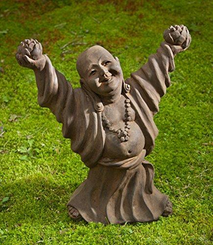 Campania International OR-131-EM Dancing Buddha Statuary, English Moss Finish